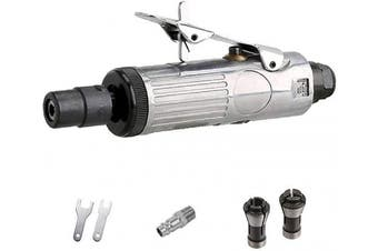 "1/4"" Air Die Grinder, 25,000 RPM Free Speed,1/4""(6MM) and 1/8""(3MM) collet,Mini and Compact Size,Polishing Cutting Tool"