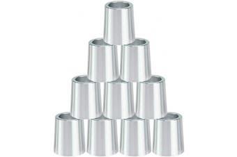 (Silver) - Big Teeth Golf Ferrules .355 Iron Shaft Tips Adapter 10Pcs 16mm Aluminium Multi Colours