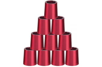 (Red) - Big Teeth Golf Ferrules .355 Iron Shaft Tips Adapter 10Pcs 16mm Aluminium Multi Colours