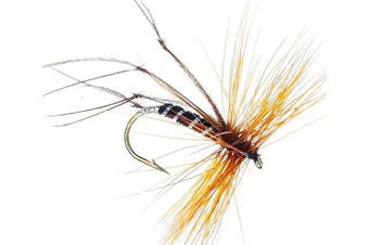 (BLACK Daddies RANDOM Mixed sizes) - Daddy long legs Trout Fly Fishing Flies BLACK DADDIES on size 10, 12, 14 or RANDOM sized Hooks X 3 Flies