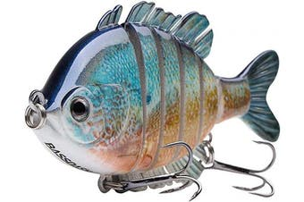 "(Redbreast Sunfish) - Bassdash SwimPanfish Multi Jointed Panfish Bluegill Swimbaits Hard Topwater Bass Lures Fishing Lure Crank Saltwater 3.5""25ml"