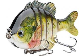 "(Bluegill) - Bassdash SwimPanfish Multi Jointed Panfish Bluegill Swimbaits Hard Topwater Bass Lures Fishing Lure Crank Saltwater 3.5""25ml"