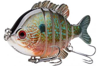 "(Longear Sunfish) - Bassdash SwimPanfish Multi Jointed Panfish Bluegill Swimbaits Hard Topwater Bass Lures Fishing Lure Crank Saltwater 3.5""25ml"