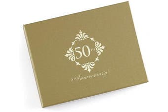 (50th Anniversary) - Hortense B. Hewitt 55166 Guest book, 19cm x 15cm , 50th Anniversary