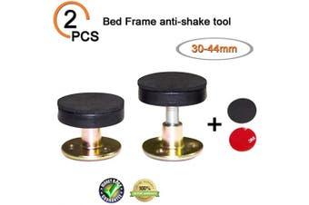(30-44mm) - Krisler Adjustable Threaded Bed Frame Anti-Shake Tool for Bed, Headboard Stoppers, Bedside Headboards Prevent loosening Anti-Shake Fixer, Easy Instal (30-44mm)