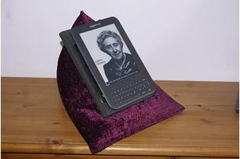 (Amethyst) - Edge Beanbags Techbed - Beanbag Cushion Tablet Stand for iPad, iPad Mini, 23cm and 18cm tablets, ebook readers and books