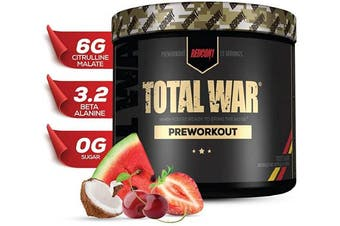(Tigers Blood) - Redcon1 - Total War - Preworkout - All New (15 Servings) Boost Energy, Increased Lasting Endurance, Citrulline Malate, Beta-Alanine, Keto Friendly, (Tigers Blood)