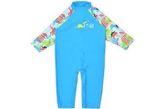 (3-6 Months, Dino Pirates) - Splash About Unisex Baby Uv All-in-one Sunsuit