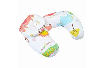 Nursing Pillow and Positioner, Machine Washable Cotton Blend Fabric Infant Support with Allover Fashion, Gender Neutral