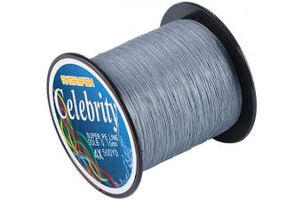 (11kg/0.20MM-500YD, Grey) - ANGRYFISH 4 Strand Super Strong Braided Fishing Line- Less Expensive -Zero Stretch -Small Diameter-Suitable for Novice Fishermen