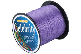 (36kg/0.50MM-500YD, Purple) - ANGRYFISH 4 Strand Super Strong Braided Fishing Line- Less Expensive -Zero Stretch -Small Diameter-Suitable for Novice Fishermen