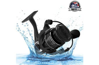 (1000) - Cadence Spinning Reel,CS5 Ultralight Carbon Fibre Fishing Reel with 9 Durable & Corrosion Resistant Bearings for Saltwater or Freshwater,Super Smooth Powerful Reel with 16kg Max Drag 6.2:1 Spin Reel