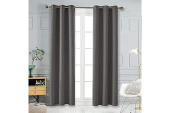 (42Wx108L Inch, Light Grey) - Deconovo Thermal Insulted Blackout Bedroom Curtains Room Darkening Curtain Panels for Living Room 110cm x 270cm Light Grey