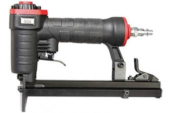 3PLUS H7116SP 22 Gauge 1cm Crown Pneumatic Upholstery Stapler for 71 Series or C-Crown Staples, 0.6cm to 1.6cm