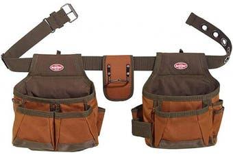 (Brown) - Bucket Boss 2 Bag Tool Belt in Brown, 50200