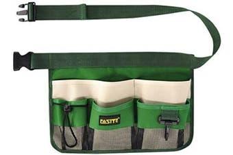 (Green) - FASITE YL003G 7-Pocket Gardening Tools Belt Bags Garden Waist Bag Hanging Pouch, Green