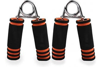 Phoenix Fitness Set of 2 Hand Grip Strengtheners - Hand Exercises with Foam Gripper Handles - Wrist Exercising Resistance Training - Forearm Muscle Strength Building - Grip Workout for Stress Relief