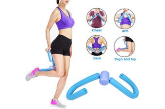 (blue) - edealing Thigh Toning Trimmer Equipment Leg Shape Workout Slim Exerciser Training Device Home Gym Equipment Hips Arms