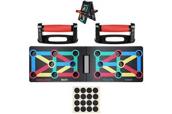 (Foldable-1) - Risefit Push Up Board - 9 In 1 Body Building Rack Fitness Comprehensive Exercise Workout Board Gym Training Muscle Board Home Gym Fitness Equipment