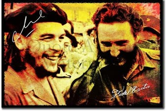 (12 x 8 Inch (30 x 20 cm)) - // TPCK // Che Guevara and Fidel Castro Art Print Photo Poster Gift Quote Cuba Communism Revolution - Size: 12 x 8 Inches (30 x 20 cm)
