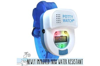 (Blue-2020 Model) - Potty Time: The Original Potty Watch | Newly Improved 2020 ~ Water Resistant | Toddler Toilet Training Aid, Warranty Included (Set Automatic Timers with Music for Gentle Reminders), Blue