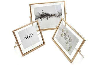 (Horizontal) - AceList Set of 3 Rose Gold Picture Frame for Aesthetic Room Decor,4 x 4, 4 x 6, 5 x 7 Picture Frame Set