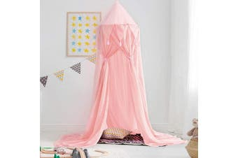 (Chiffon-pink) - Didihou Bed Canopy for Girls Mosquito Net Princess Bed Canopy Hanging Play Tent Bed Netting for Kids Playing Reading Corner for Baby Boys and Girls (Chiffon-Pink)