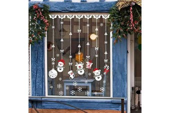 (Window Stickers) - QIDIANTRADE Window Stickers Christmas Decorations Clings Deng Decorations Ornaments Party Supplies