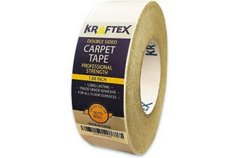 (90ft) - Double Sided Carpet Tape 27m/30Yrd Roll Double Sided Tape Heavy Duty for Rugs, Mats, Pads & Runners. Rug Tape for Hardwood Floors, Tile, Laminate. 2 Sided Unique Adhesive Heavy Duty Double Stick Tape