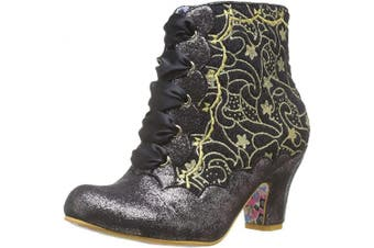 (7.5 UK, Black Black Light) - Irregular Choice Women's Chinese Whispers Ankle Boots