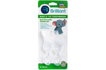 (Clear) - Baby Buddy Baby's 1st Toothbrush 2ct (Clear)