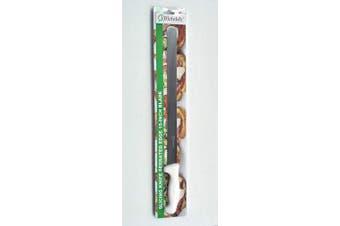 (Serrated, White) - Bleteleh Slicing Knife Serrated Edge 38cm Blade, White Handle