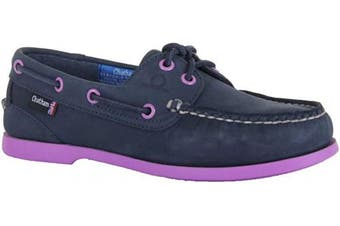(4 UK, Navy Purple) - Chatham Women's Pippa Ii G2 Boat Shoe