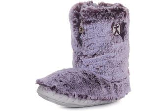 (5/6 UK, Damson) - Bedroom Athletics Women's Cole Faux Fur Slipper Boots