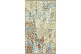 (0.3m2.4m x 0.6m10) - Maples Rugs Southwestern Stone Distressed Abstract Kitchen Rugs Non Skid Accent Area Floor Mat [Made in USA], 0.3m2.4m x 0.6m Multi