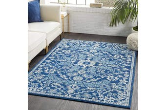 (0.6m x 0.9m, Navy) - Artistic Weavers Odelia Updated Traditional Rug Navy 0.6m x 0.9m