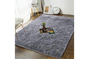 (1.2m x 1.8m, Grey) - Andecor Soft Fluffy Bedroom Rugs - 1.2m x 1.8m Indoor Shaggy Plush Area Rug for Boys Girls Kids College Dorm Living Room Home Decor Floor Carpet, Grey