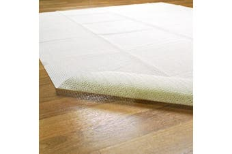 (1.5m x 2.4m) - Superior Light-Weight Strong Grip Textured Rubber, Slip-Resistant Reversible Beige Hard Floor Surface and Under Rug Protection Area Rug Pad, 1.5m x 2.4m