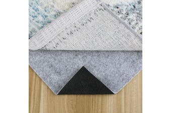 (0.6m x 0.9m) - MAYSHINE 0.6m x 0.9m, 1/4'' Thick, Basics Felt + Rubber Non Slip Rug Pad,Safe for All Floors and Finishes,Keep Safe and in Place for Area Rugs Softens Carpet and Prevents Slipping