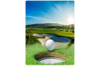 (Green) - Blankets Sofa Bed Throw Lightweight Cosy Plush Golf Course Beautiful Sky Hole Bunker 150cm x 200cm