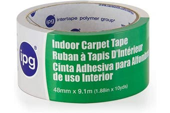 """(Single Roll, 1.88"""" x 10 yd) - IPG Double-Sided Indoor Carpet Tape, 4.8cm x 10 yd (Single Roll)"""