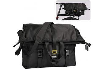 (Black) - Wildken Bike Rear Seat Pannier Bag Waterproof Multi-purpose Shoulder Messenger Bag Large Shopping Bag for Men Women