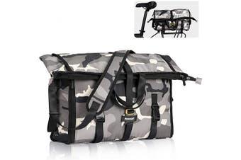 (Grey) - Wildken Bike Rear Seat Pannier Bag Waterproof Multi-purpose Shoulder Messenger Bag Large Shopping Bag for Men Women