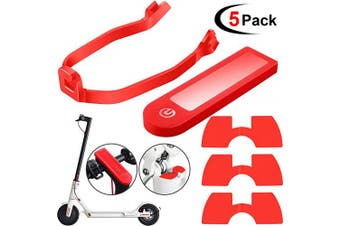 5 Pieces Scooter Replacement Part Accessories for Xiaomi M365/ M365 Pro Scooter, Includes Rear Fender Bracket Mudguard Bracket, Waterproof Silicone Protective Cover, 3 Pieces Rubber Vibration Dampers