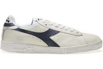 (3.5 UK Narrow, C5262 White Blue Caspian Sea) - Diadora - Sport Shoes Game L Low Waxed for Man and Woman