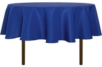 (180cm , Blue) - sancua Round Tablecloth - 180cm - Water Resistant Spill Proof Washable Polyester Table Cloth Decorative Fabric Table Cover for Dining Table, Buffet Parties and Camping, Blue