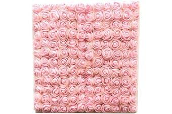 (Light Pink) - Artfen Mini Fake Rose Flower Heads 144pcs Mini Artificial Foam Roses DIY Wedding Flowers Accessories Make Bridal Hair Clips Headbands Dress (Bottom add Gauze) Light Pink