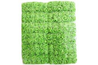 (Green) - Artfen Mini Fake Rose Flower Heads 144pcs Mini Artificial Roses DIY Wedding Flowers Accessories Make Bridal Hair Clips Headbands Dress (Bottom add Gauze) Green