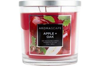 (410ml, Apple & Oak) - Aromascape 3-Wick Scented Jar Candle, Apple & Oak