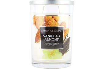 (560ml, Vanilla & Almond) - Aromascape PT41907 2-Wick Scented Jar Candle, Vanilla & Almond, 560ml, White